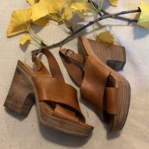 Lucky Brand leather heels